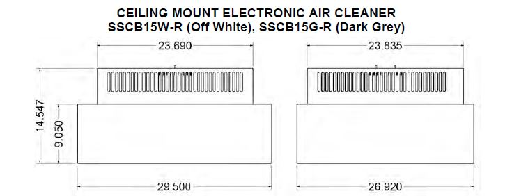 schematic SSCB15 Commerical ceiling mount